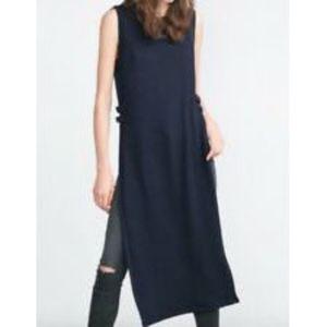Zara Sleeveless Side Split Long Line Tunic Top